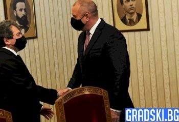 Тошко Йорданов и Румен Радев на консултация в президентството