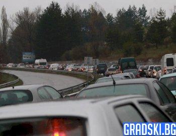 Огромен наплив на КПП-тата за влизане в София