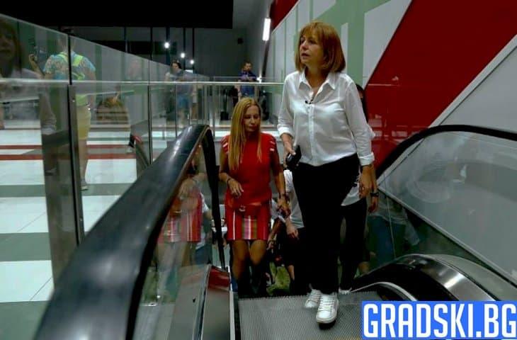 Фандъкова посети новата линия на метрото