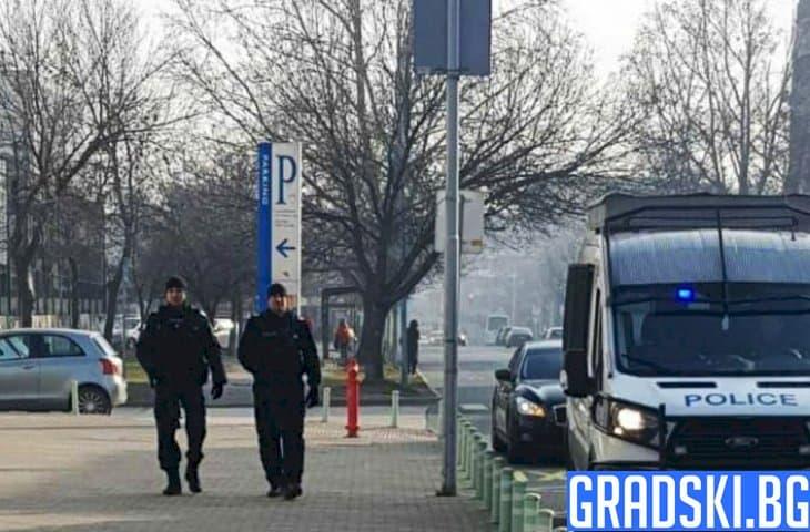 Полицията охранява със затегнати перки в Пловдив